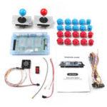 Оригинал 999 в 1 игровая панель Blue / Red Push Button Двойной джойстик для Pandora's Box 5S Игровая консоль DIY