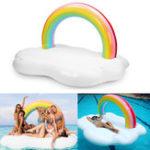 Оригинал ГигантскийнадувнойплавательныйбассейнRainbowCloud Float Raft Бассейн Play Fun Toy