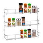 Оригинал 3 Tiers Kitchen Spice Rack Cabinet Настенное крепление Шкаф для хранения кладовки Кухонный шкаф для хранения