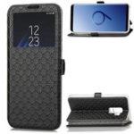 Оригинал ВиднаокнаМагнитныйфлип-брелокСлот для карты ТПУ кожаный защитный Чехол для Samsung GalaxyS9Plus