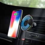 Оригинал HOCO10WQiБеспроводнаябыстраязарядка Semi Auto Замок Авто Подставка для держателя для держателя для iPhone 8 X