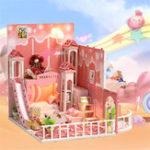 Оригинал iiecreate k-029 Dream Childhood DIY Кукла Дом с мебельной крышкой
