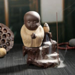 Оригинал Monk Backflow Incense Cone Burner Палка Holder Buddha Home Fragrant Censer Decor