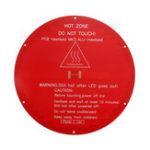 Оригинал 12V 220 * 220 * 3 мм красный круглый алюминиевый нагреваемый слой 3D-принтер часть
