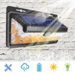 Оригинал 3 Режимы PIR Движение Датчик 166 LED Солнечная Свет Водонепроницаемы Мерцающая пламенная стена эмуляции Лампа