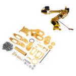 Оригинал 7DOF Golden Механический Робот для захвата рук для Arduino DIY Набор Supprot MG996 Сервопривод