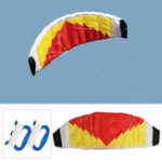 Оригинал 2-линейный парашютный трюк-кайт 0,7 х 2 м Парусный парус / серфинг Пляжный Nylon Ткань