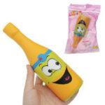 Оригинал Squishy Jumbo Желтая бутылка пива 20см Медленное восхождение Soft Коллекция подарков Декор Игрушка