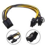 Оригинал 8Pin для Dual 8 (6 + 2) Pin Power Cable Видео VGA Видеокарты Mining Machine 30 см