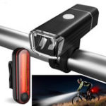 Оригинал XANESBLS11650LM4режимаНемецкий стандарт Велосипед Велосипед Light Set USB аккумуляторная фара / задние фонари