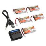 Оригинал 5PCS ZOP POWER 3.7V 650mAh 25C 1S Lipo Батарея JST Plug с зарядным устройством