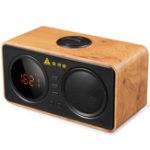 Оригинал ЗолотоеполеD30Деревяннаяретро-сигнализацияЧасы Беспроводная Bluetooth Поддержка динамиков TF-карты AUX