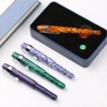 Оригинал Delike Смола 0,38 мм Иридиум Экстра Fine Fibre Nib Ручка Деликатный путешествия короткий Ручка Дать Подарочный набор