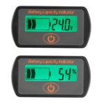 Оригинал 12V / 24V Батарея Измеритель манометра Цифровой LCD Уровень кислотного напряжения Уровень Вольтметр