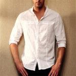 Оригинал TWO-SIDEDМужчиныбольшойразмертричетверти рукава хлопчатобумажные рубашки