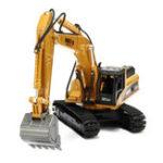 Оригинал 1:50 Инженерная модель с дизельным двигателем 1:50 Игрушки для экскаваторов из сплавов Металлические отливки Toy Vehicles