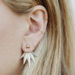 Оригинал 5Pcs Лист Геометрические серьги Набор Золотые кольца Ювелирные изделия для волос для ушей