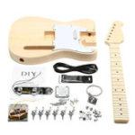 Оригинал Unfinished DIY Электрическая гитара Махровое тело Rosewood Fingerboard Набор Set Durable