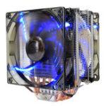 Оригинал Pccooler 12V X6 4 Pin Double Blue LED Медь Вентилятор охлаждения процессора для AMD AM4 Intel LGA 775