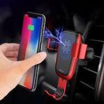 Оригинал ROCK10WQiБеспроводнаябыстродействующаясила тяжести Авто Замок Авто Подставка для воздуха для воздуха для iPhone 8 X