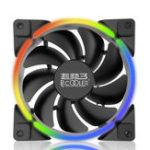 Оригинал PCCooler 12V DC 12cm LED Компьютер Чехол Охлаждающий вентилятор 3Pin 4Pin PC Cooler Heatsink