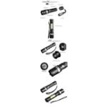 Оригинал XANES1102XPE+COB1000Lumens 3Modes Фронтальные и боковые огни Red & Blue & White Lights Zoomable USB аккумуляторная LED Фонарик