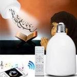 Оригинал AC110-240V E27 10W 8G TF карта EU Plug Quran Ramadan LED Wireless Bluetooth Ламповый динамик Лампа