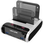 """Оригинал Wavlink USB3.0 для SATA Dual-Bay Жесткий диск для чтения картплоттеров для 2,5 / 3,5 """"HDD SSD Offline Clone"""