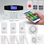 Оригинал SMS GSM Беспроводная домашняя охранная сигнализация Система безопасности Pet Immune PIR Датчик С Дистанционный