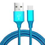 Оригинал Bakeey 3m 2.1A Nylon Плетеный Type-C Быстродействующий кабель для передачи данных для Xiaomi 8 Oneplus 6 Honor 10