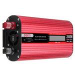 Оригинал DOXIN 4000W Пиковый преобразователь питания USB DC12V / 24V в AC220V / 110V Modified Sine Wave Converter LCD Экран