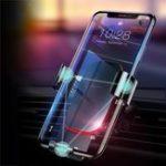 Оригинал BaseusMetalGravityAutoЗамокАвто Подставка для держателя воздуховода для iPhone 8 Мобильный телефон Xiaomi