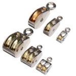 Оригинал Поворот неподвижного шкива для подъема шкива по металлу Веревка Подвесные подъемные колеса