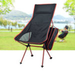 Оригинал IPRee®ПортативныйскладнойстулКемпингС подушкой Ultralight для Рыбалка Пикник Макс. Нагрузка 120 кг