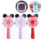 Оригинал 2в1XANESU162Modes USB перезаряжаемый Kitty & Mickey Mini Fan & LED Настольный фонарь Портативный фонарик
