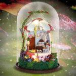 Оригинал iiecreate GN04 Mushroom Romance DIY Кукла Дом Миниатюрная мебель Набор Музыка Светодиодный Детский подарок