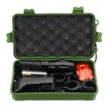 Оригинал XANESA100XML–T6800Lumens 5Modes Яркость Zoomable Tactical LED Фонарик Костюм и съемный велосипедный светильник с ручкой и занавеской