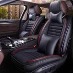 Оригинал 13шт.КожаPUАвтоКомплектдля защиты подушки для сателлитов Surround Seat Universal для 5 мест Авто