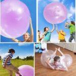 Оригинал 1 Meter Огромный Amazing Tear Resistant WUBBLE Bubble Ball Kids Надувные игрушки