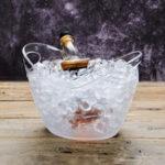 Оригинал 4LPlasticTransparentСадIceBucket Super Large Ice Bucket Пиво Шампанское Big Ice Bucket Bar Набор