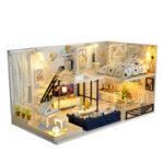 Оригинал Time Shadow Modern Кукла Дом Миниатюрный DIY Набор Куклаhouse С мебелью Светодиодный Коробка Подарок