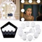 Оригинал 10W USB Touch Control LED Vanity Hollywood Style Макияж Зеркальная лампа для домашнего декора