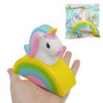 Оригинал Sanqi Elan Squishy Rainbow Лошадь Медленная Восходящая Симпатичная Игрушка для животных 11 * 10 * 4 см