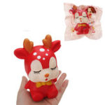 Оригинал Спящий Sika Deer Squishy 15 * 8CM Slow Rising Soft Коллекция подарков для животных