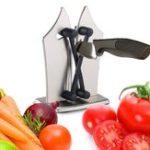 Оригинал KCASA2штТочилкадлярезкиножей Серебряная кухонная ножевая точилка для полировки Зубчатая скошенная и стандартная Лопасти Т