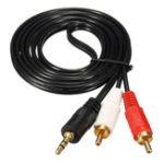 Оригинал 1.5M / 3M / 5M 3,5 мм Мужской до 2 RCA AV Мужской стерео аудиокабель AUX-кабель