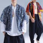 Оригинал ЭтническийстильПовседневнаямодаКитайскийHanfu Loose Cloak Coats