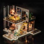 Оригинал iiecreate K-033 September Fores DIY Кукла Дом с мебельной крышкой