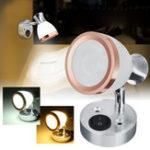 Оригинал 12V 3W LED Внутреннее матовое стекло LED Мини-световая ночь для чтения Лампа для шкафа для каравана