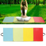 Оригинал 70.86×23.6×1.96inch 4 Folding Gymnastics Mat Yoga Упражнение Gym Panel Восхождение Tumbling Pad